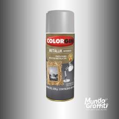 Tinta Spray Colorgin Metallik 053 Prata 350ml