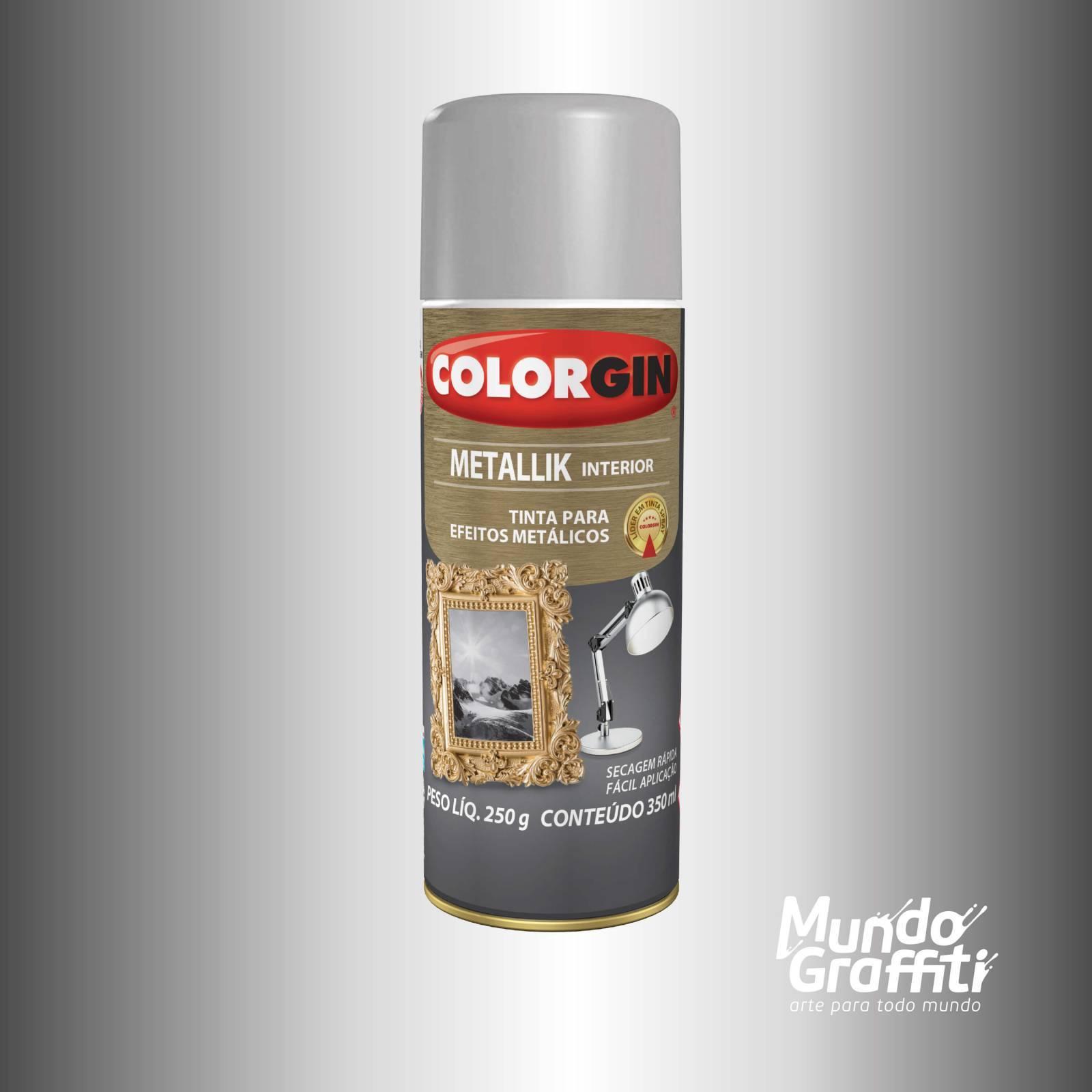 Tinta Spray Colorgin Metallik 053 Prata 350ml - Mundo Graffiti