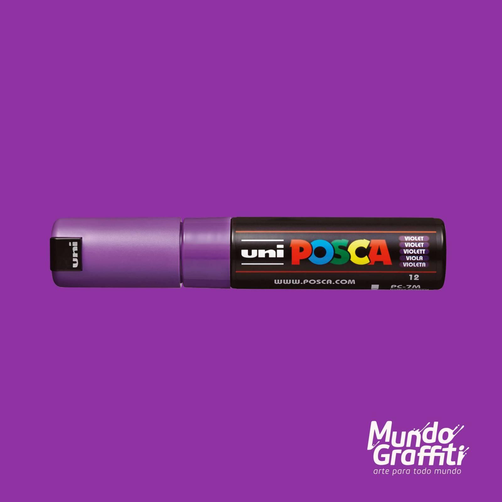 Caneta Posca 7M Violeta - Mundo Graffiti