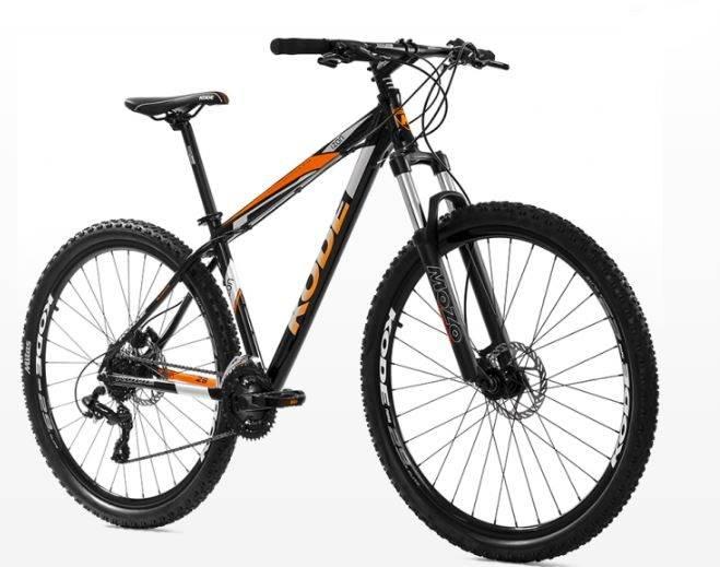 Bicicleta Kode Izon Preta/Laranja - Alex Ribeiro Bikes