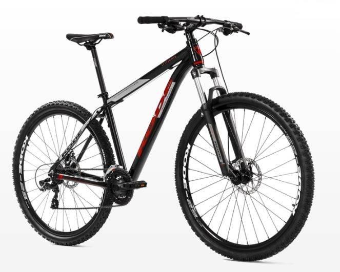 Bicicleta Kode Attractive Preta/Vermelha - Alex Ribeiro Bikes
