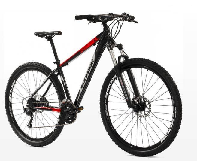Bicicleta Kode Attack Preta/Vermelha - Alex Ribeiro Bikes