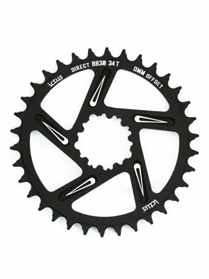 Coroa Ictus Direct BB30 34T 0mm - Alex Ribeiro Bikes