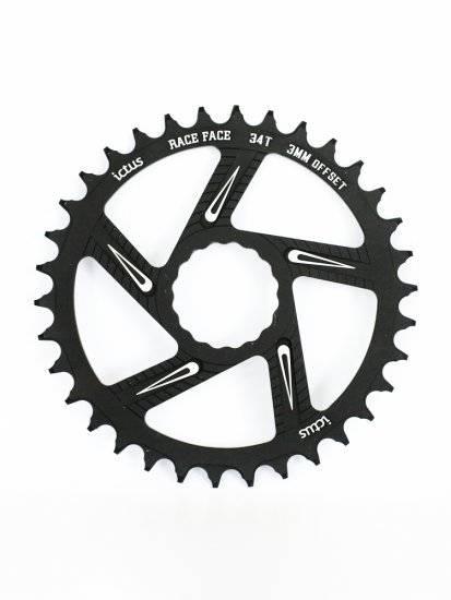 Coroa Ictus Race Face 34T 3mm - Alex Ribeiro Bikes