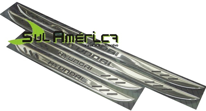 SOLEIRA CROMADA HYUNDAI 4PORTAS HB20 I30 I30CW IX35 TUCSON S