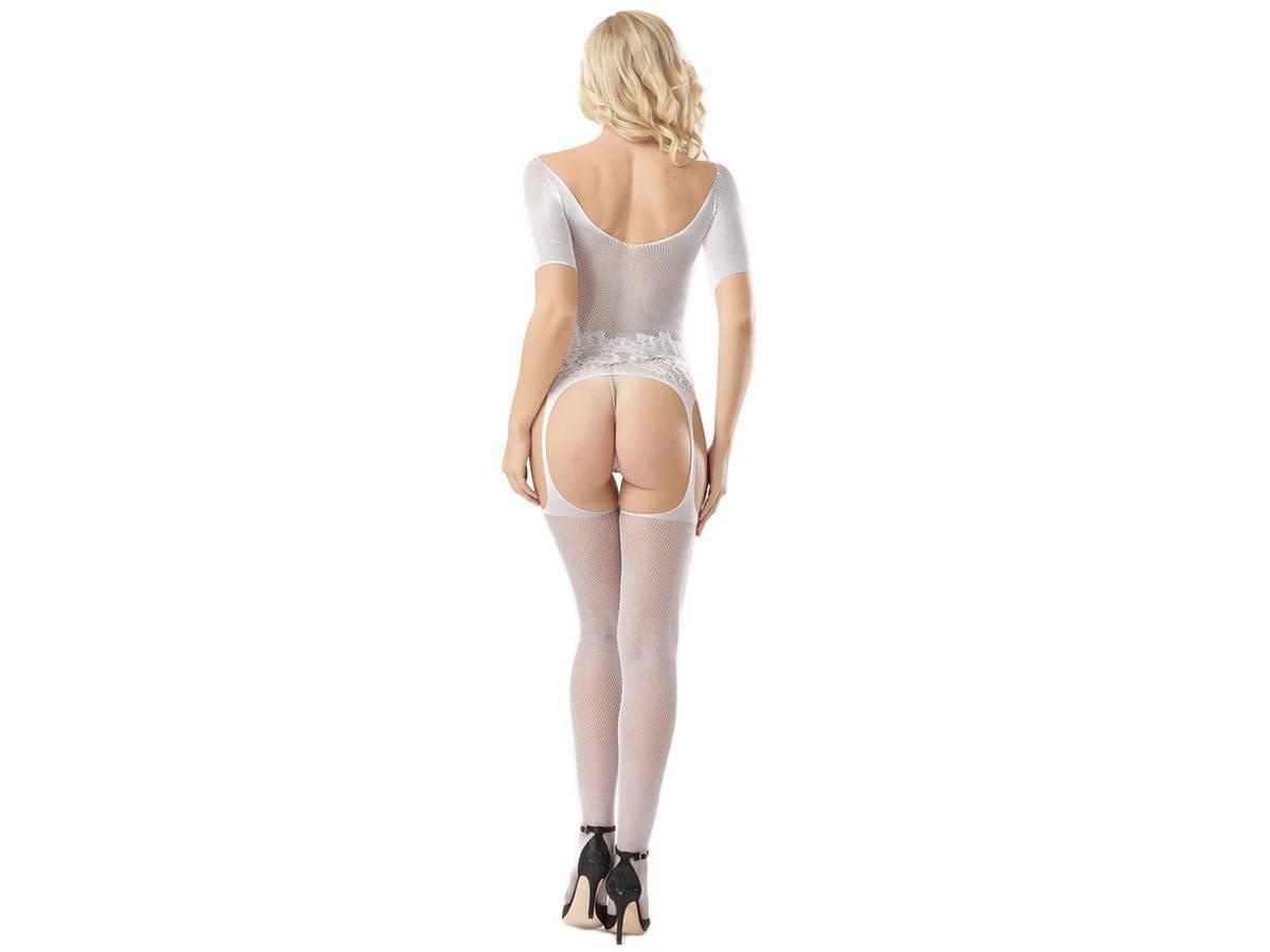 Lingerie Tentação Modelo Bodysuit Europeia Branco - Sul Acessorios