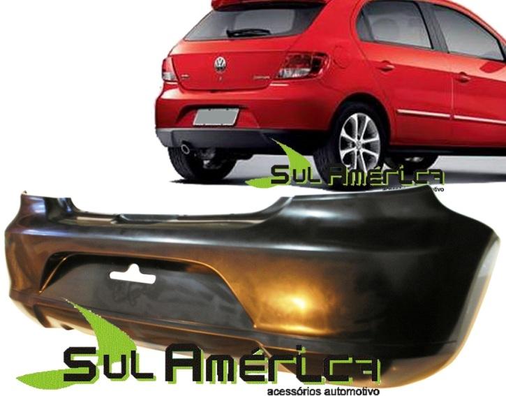PARACHOQUE TRASEIRO VW GOL G5 08 09 10 11 12 PRETO LISO