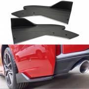 Spoiler Traseiro Bat Focus Sedan 2014 a 2020 Preto Ld+Le
