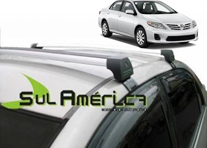 RACK DE TETO COROLLA SEDAN 2009 A 2014 ALUMINIO LONG LIFE