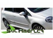 FRISO LATERAL FIAT PUNTO 07/15 4P PRETO (2 CORES)