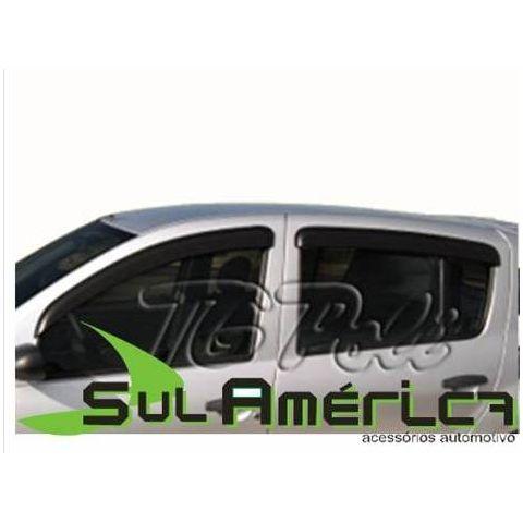 CALHA DE CHUVA RENAULT SANDERO 08 09 10 11 12 13 14 4P FUME  - Sul Acessorios