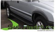 FRISO LATERAL S10 CD 2001 A 2011 CABINE DUPLA PRETO BORRACHA