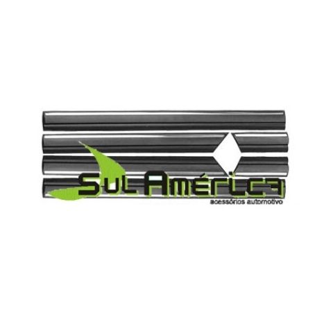 FRISO LATERAL OMEGA CD 93 94 95 96 97 98 4P PRETO CROMADO