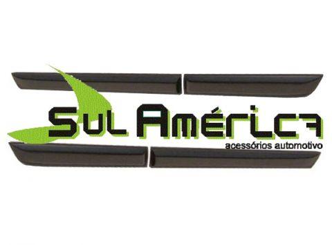 FRISO LATERAL SANDERO 08 09 10 11 12 13 14 4P PRETO ORIGINAL - Sul Acessorios