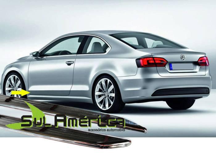 FRISO LATERAL INFERIOR VW JETTA 06/15 4P CROMADO (4PÇŽS) - Sul Acessorios