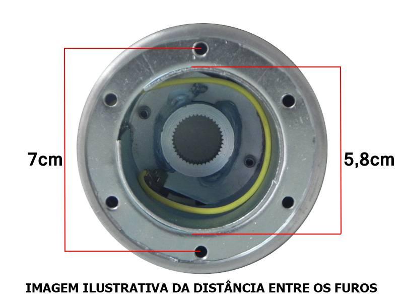 CUBO DE VOLANTE AÇO ESCOVADO VW FUSCA 89/95 (IMPORTADO) - Sul Acessorios