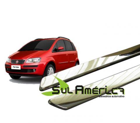 FRISO LATERAL FIAT IDEA 2003 A 2010 4P CROMADO