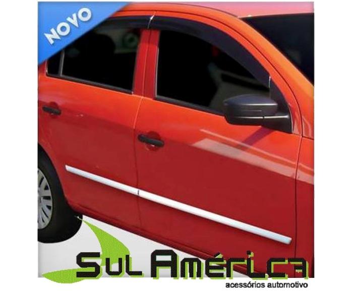 FRISO LATERAL VW FOX 03/15 4P CROMADO (4PÇ´S)