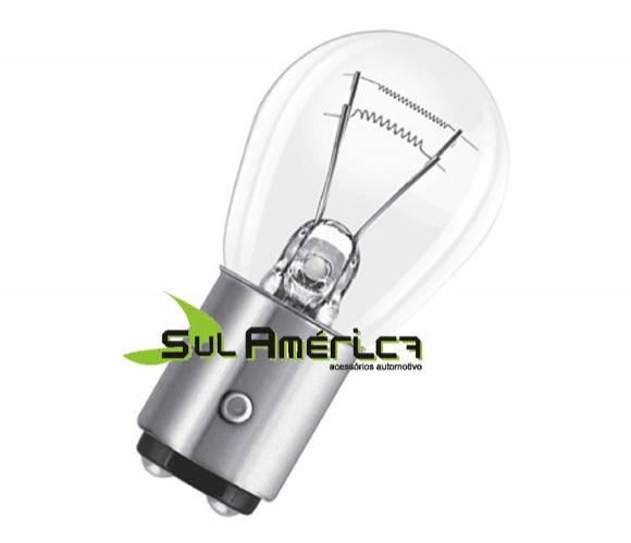 LAMPADA AUTOMOTIVA 2 POLOS P/ FREIO / MEIA LUZ P21/5W 12V 5W