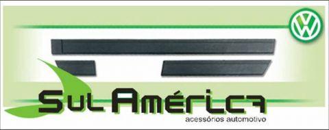 FRISO LATERAL GOL GL 87 88 89 90 PRETO 7CM MODELO ORIGINAL - Sul Acessorios