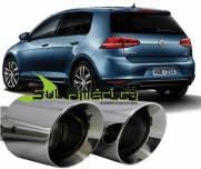 PONTEIRA DUPLA ESCAPAMENTO AÇO INOX VW NOVO GOLF G4 2013 2014 2015 2016 1.4 (2PÇ´S)