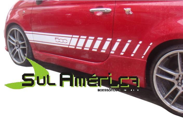SPOILER LATERAL FIAT 500 2009 2010 2011 2012 2013 2014 2015  - Sul Acessorios