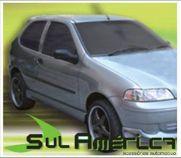 SPOILER LATERAL FIAT PALIO SIENA G2 00 01 02 03 04 05 PRETO C/ ENTRADA AR