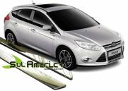 FRISO LATERAL NOVO FORD FOCUS 2014 2015 2016 4P CROMADO (4PÇ