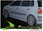JOGO DE SPOILER LATERAL VW POLO 02/15 HATCH/SEDAN