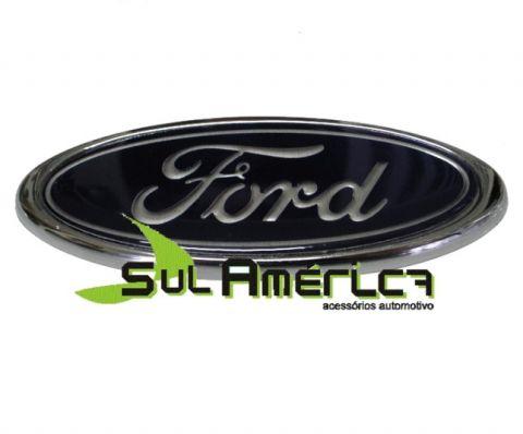 EMBLEMA DE PORTA MALAS FORD F1000 AZUL C/ FUNDO CROMADO