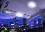 KIT LAMPADA LED TORPEDO (TETO / PLACA / QUEBRA SOL / PORTA M