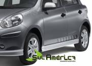 SPOILER LATERAL NISSAN MARCH 11 12 13 14 15 16 4PORTAS MODEL
