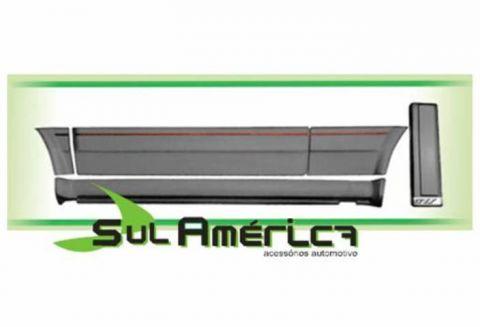 KIT SPOILER + FRISO GOL VOYAGE GT GTS 90 91 92 93 94 PRETO 1