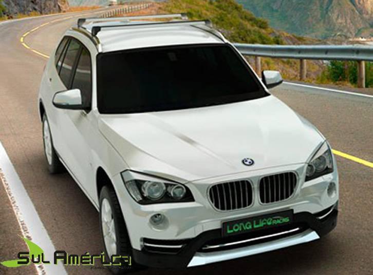 RACK DE TETO BMW X1 2013 A 2018 4P ALUMINIO PRETO LONG LIFE