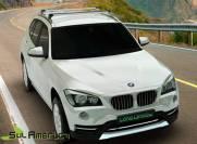 RACK DE TETO BMW X1 2013 2014 2015 2016 4P ALUMINIO PRETO