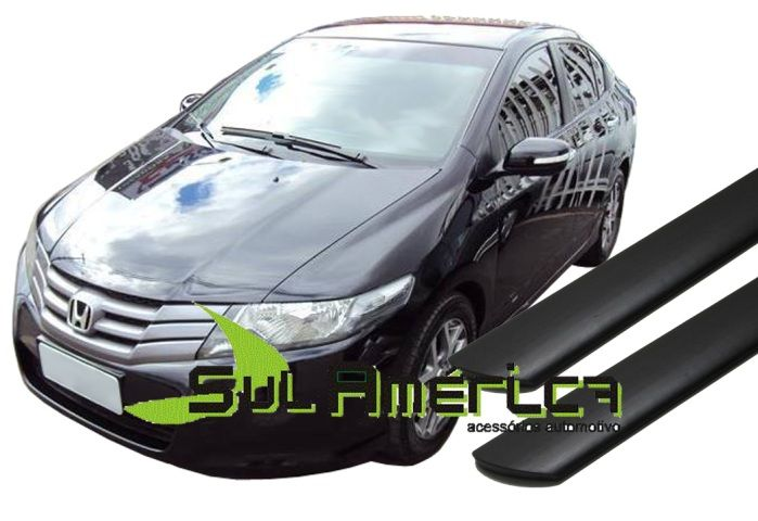 FRISO LATERAL HONDA CITY PRETO 09 10 11 12 13 14 15 16 4PORT