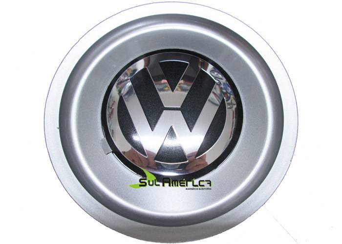 EMBLEMA CALOTA RODA VW 90mm Polo 2002 R15 Bino Fox Big Passa - Sul Acessorios