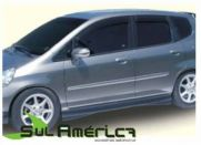 SPOILER LATERAL HONDA FIT 2003 2004 2005 2006 2007 2008 SPOR