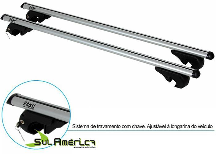RACK TRAVESSA P/ LONGARINA HB20X ALUMINIO PRATA C/ ANTIFURTO - Sul Acessorios