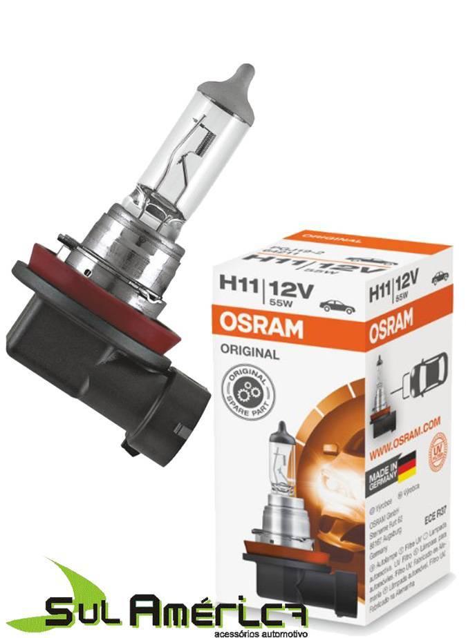 LAMPADA H11 12V 55W FAROL AUXILIAR PUNTO ORIGINAL OSRAM - Sul Acessorios