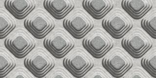 Papel de Parede Texturizado 3D Carousel Cinza