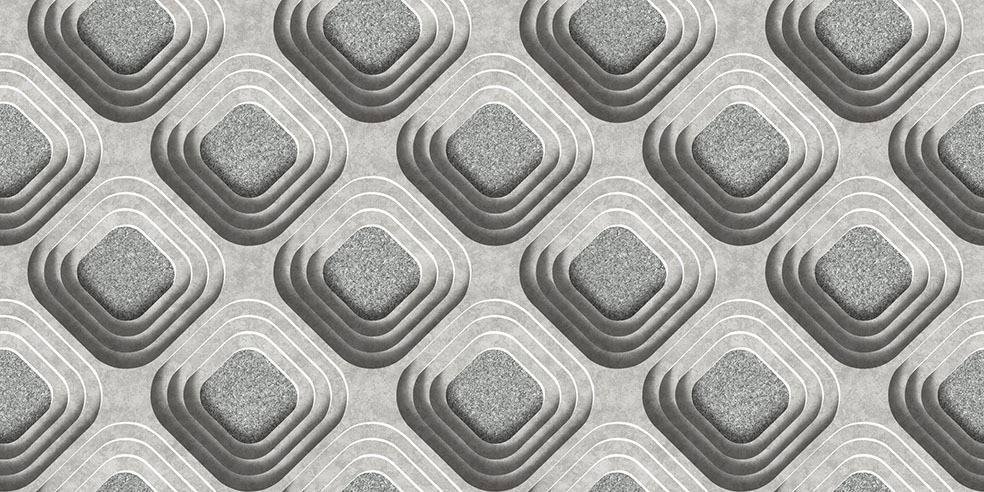 Papel de Parede Texturizado 3D Carousel Cinza imagem 1