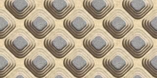 Papel de Parede Texturizado 3D Carousel Marron e Cinza