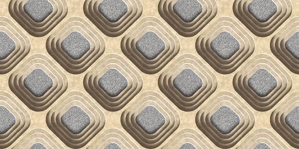 Papel de Parede Texturizado 3D Carousel Marron e Cinza imagem 1