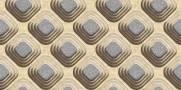 imagem do Papel de Parede Texturizado 3D Carousel Marron e Cinza