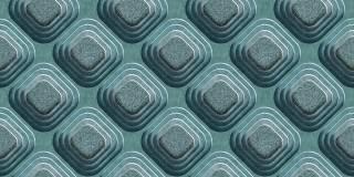 Papel de Parede Texturizado 3D Carousel Azul