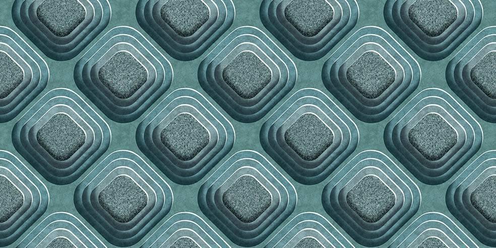 Papel de Parede Texturizado 3D Carousel Azul imagem 1