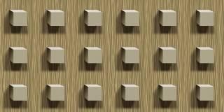 Papel de Parede Texturizado 3D Cubos bege
