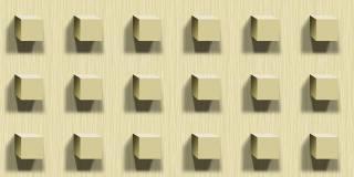Papel de Parede Texturizado 3D Cubos Marfim