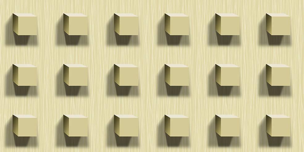 Papel de Parede Texturizado 3D Cubos Marfim imagem 1
